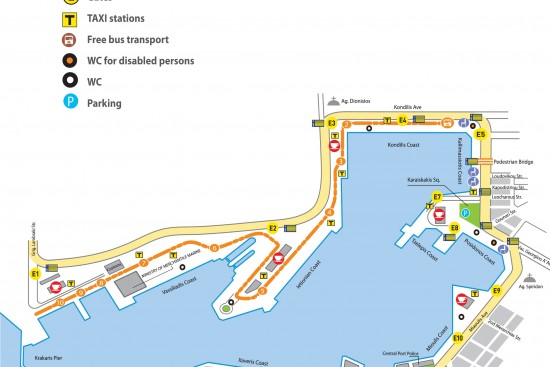 Map of Piraeus cruise port